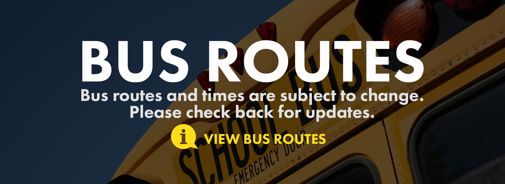 bus route and times change