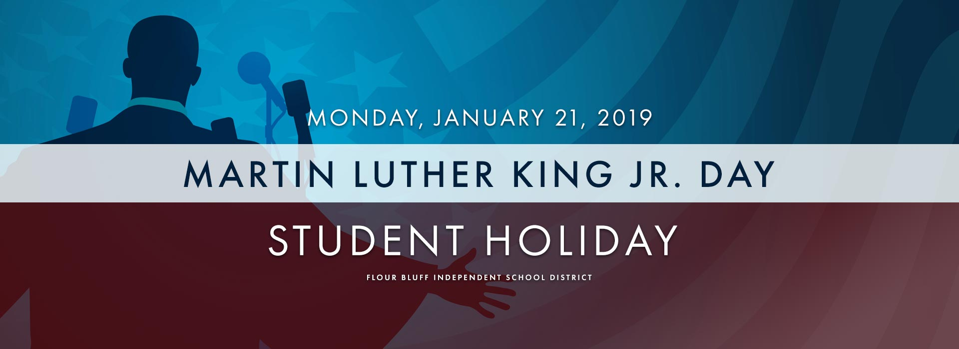 mlk day graphic siting student holiday on january 21 2019